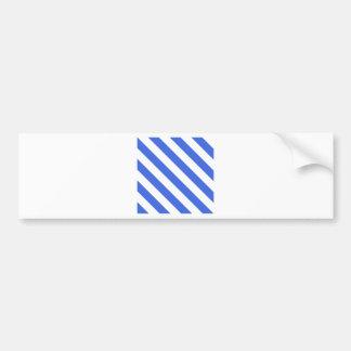 Diag Stripes - White and Royal Blue Car Bumper Sticker