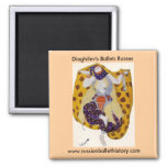 Diaghilev's Ballets Russes 2 Inch Square Magnet