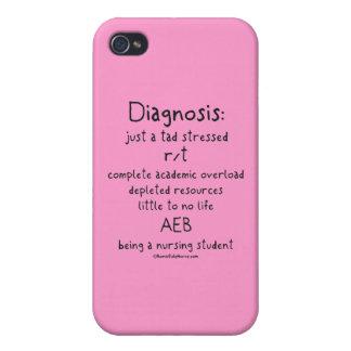 Diagnosis apenas un poco subrayada iPhone 4 carcasas