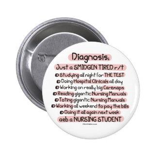 Diagnosis - apenas un Smidgen cansado Pin Redondo De 2 Pulgadas