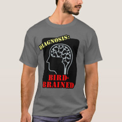 Men's Basic Dark T-Shirt with Diagnosis: Bird-Brained design