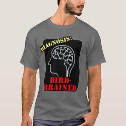 Men's Basic Dark T-Shirt with Diagnosis: Bird-Brained design