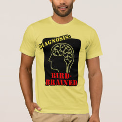 Men's Basic American Apparel T-Shirt with Diagnosis: Bird-Brained design