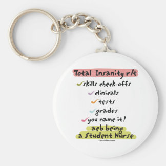 Diagnosis Total Insanity Basic Round Button Keychain
