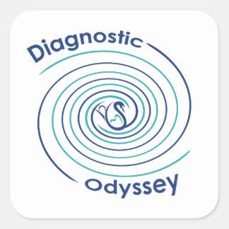 Diagnostic Odyssey Square Sticker