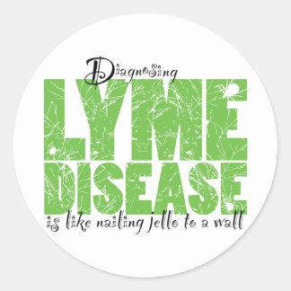 Diagnóstico de la enfermedad de Lyme Pegatina Redonda