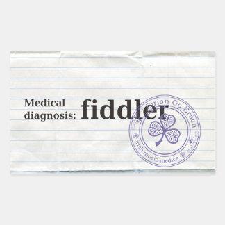 Diagnóstico médico: Fiddler Pegatina Rectangular