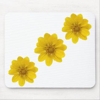 Diagonal amarilla del Wildflower Mousepads