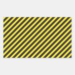 Diagonal amarilla y negra de la construcción rayad etiqueta