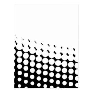 Diagonal B and W Half Tone Postcard