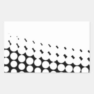 Diagonal B and W Half Tone Rectangular Sticker