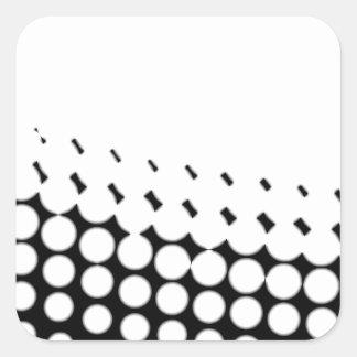 Diagonal B and W Half Tone Square Sticker
