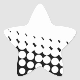 Diagonal B and W Half Tone Star Sticker