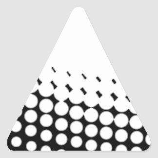 Diagonal B and W Half Tone Triangle Sticker