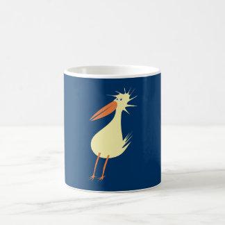diagonal bird odd duck coffee mug