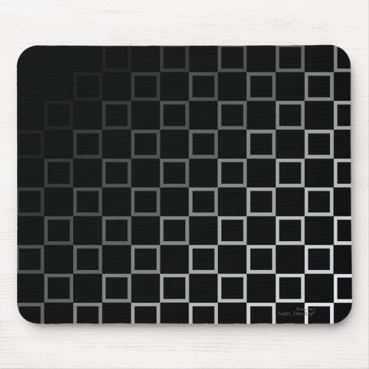 Diagonal black and white spectrum pattern mousemat mouse pad