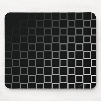 Diagonal black and white spectrum pattern mousemat mouse pads