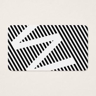 diagonal blinds black and white business card