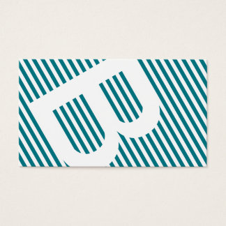 diagonal blinds blue business card