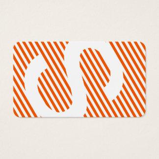 diagonal blinds burnt orange business card