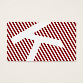 diagonal blinds garnet red business card