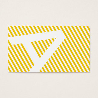 diagonal blinds gold business card