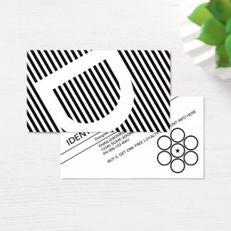 diagonal blinds loyalty business card