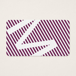 diagonal blinds purple wine business card