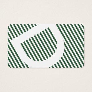 diagonal blinds sage green business card