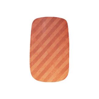 Diagonal Blood Orange Nail Decals