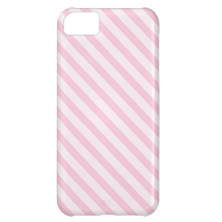 Diagonal Blossom Pink Stripes Cover For iPhone 5C