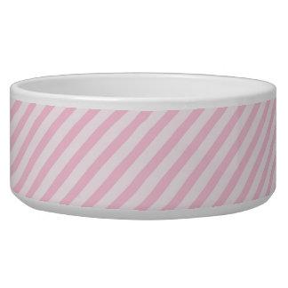 Diagonal Blossom Pink Stripes Dog Water Bowl