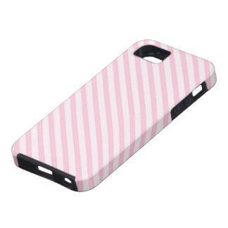 Diagonal Blossom Pink Stripes iPhone SE/5/5s Case