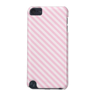 Diagonal Blossom Pink Stripes iPod Touch (5th Generation) Case