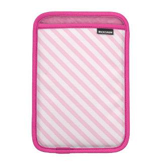 Diagonal Blossom Pink Stripes Sleeve For iPad Mini