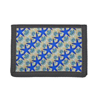 diagonal blue stars wallet