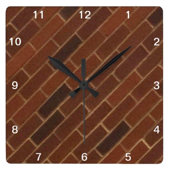 Diagonal Brick Wall Clock