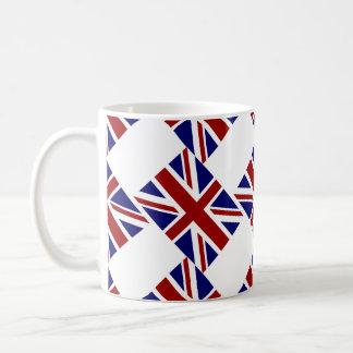 Diagonal BRITÁNICA de la bandera de Union Jack Taza