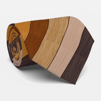 Diagonal Brown Wood Stripes Pattern Tie