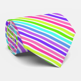 Diagonal Candy Striped Tie