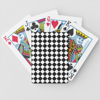 Diagonal Checkers Playing Cards