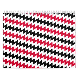 Diagonal chevron stripes calendar