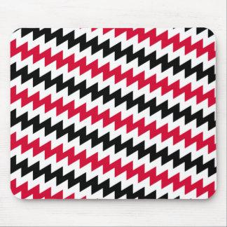 Diagonal chevron stripes mouse pad