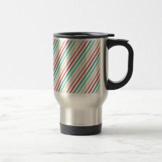 Diagonal Chic Multicolored Stripes Travel Mug