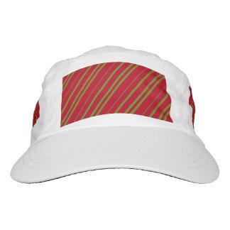 Diagonal Christmas Stripes Hat