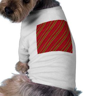 Diagonal Christmas Stripes T-Shirt