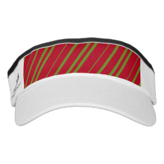 Diagonal Christmas Stripes Visor