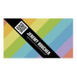 Diagonal Colored Stripes - Multi Business Card