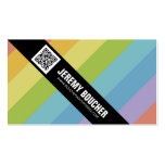 Diagonal Colored Stripes - Multi Double-Sided Standard Business Cards (Pack Of 100)
