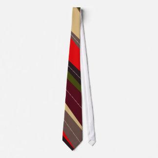Diagonal Colorful Stripe Tie